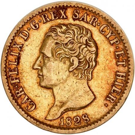 Italie - Sardaigne - 20 lires Charles Felix - 1828 Turin