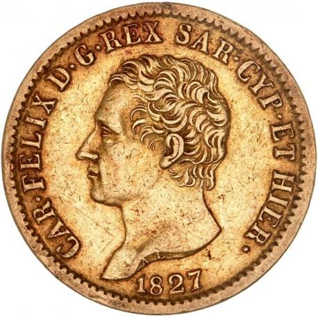 Italie - Sardaigne - 20 lires Charles Felix - 1827 Turin