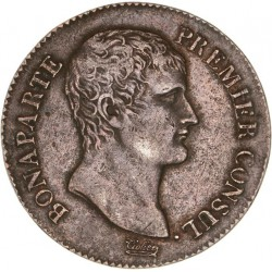 5 francs Bonaparte 1er Consul  AN XI A