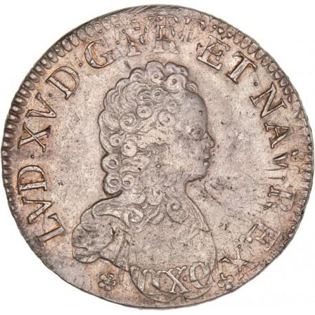 Louis XV - Écu Vertugadin 1716 A