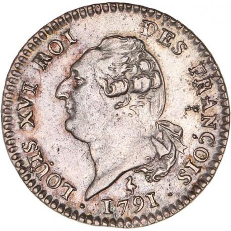 Louis XVI - période constitutionnelle - 15 sols françois 1791 A