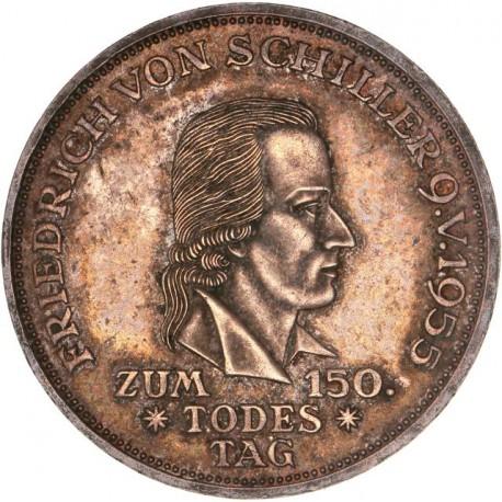 Allemagne - Prusse - 5 deutsche mark 1955 ( Friedrich von Schiller)