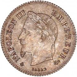20 centimes Napoléon III 1866 A (petit module)