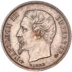 50 centimes Napoléon III 1856 A