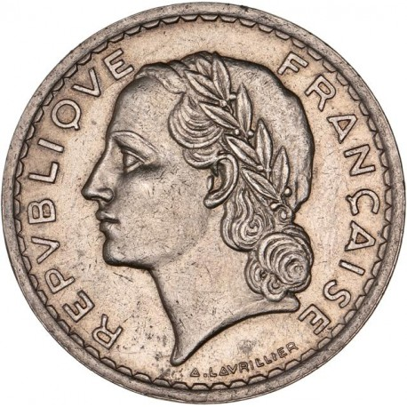 5 francs Lavrillier Nickel 1936