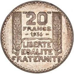 20 francs Turin 1936