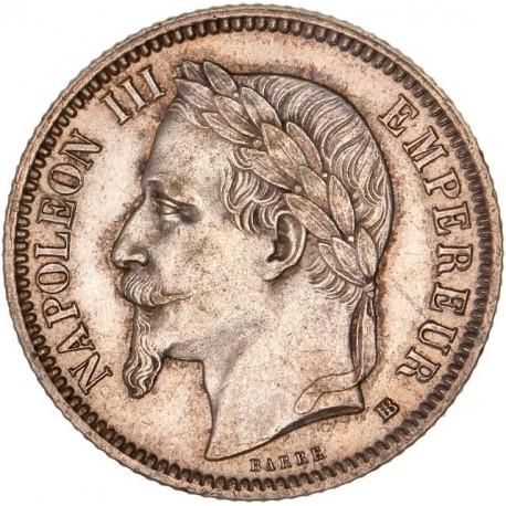 1 franc Napoléon III 1868  BB