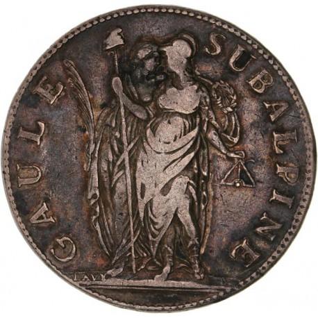 Italie - Gaule Subalpine - 5 francs an 10 Turin