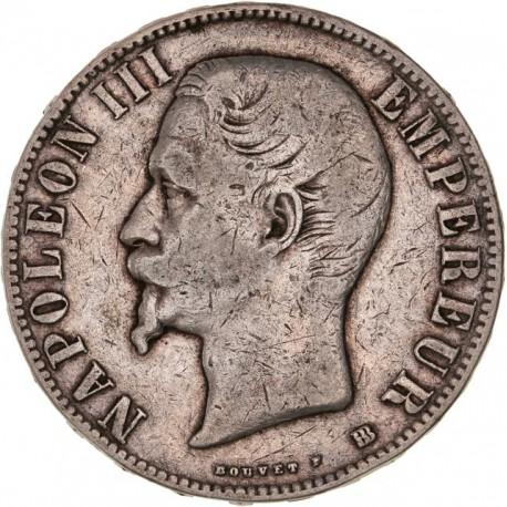 5 francs Napoléon III 1856 BB
