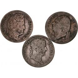 Lot de trois 1 francs