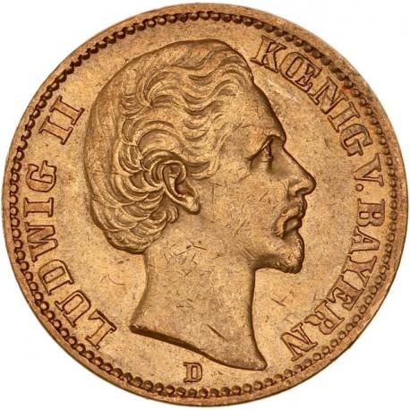 Allemagne - Bavière - 20 mark 1873 D