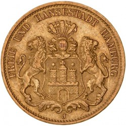 Allemagne - Hambourg  20 mark 1899