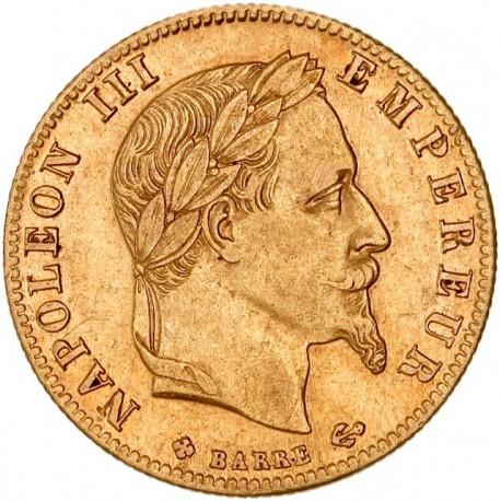 5 francs Napoléon III 1868 BB