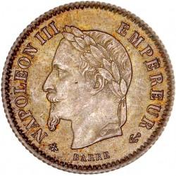 20 centimes Napoléon III 1867 A