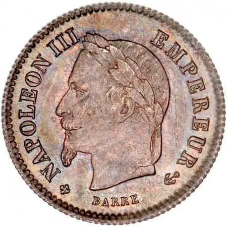 20 centimes Napoléon III 1867 BB