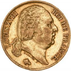 20 francs Louis XVIII - 1818 A