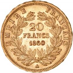 20 francs Napoléon III 1860 A