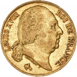 20 francs Louis XVIII - 1819 A Paris
