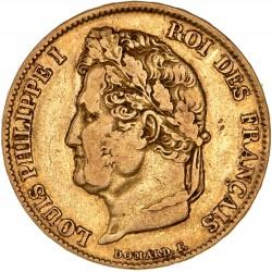 20 francs Louis Philippe Ier 1833 B Rouen