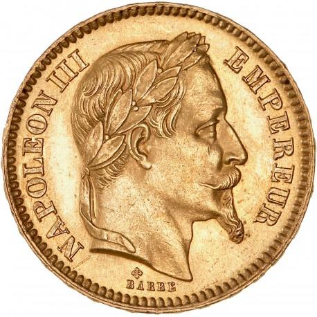 20 francs Napoléon III - 1861 BB Strasbourg