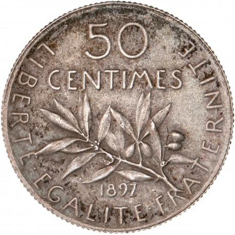 50 centimes Semeuse 1897