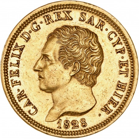 Italie - Sardaigne - 80 lires Charles Felix1828 Gênes