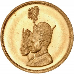 Iran - médaille de mariage Shah et impératrice 1967