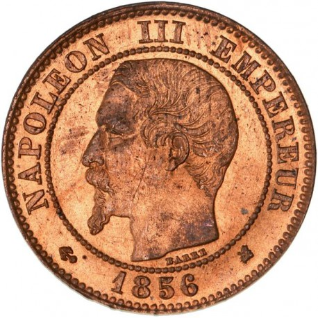 2 centimes Napoléon III 1856 K Bordeaux