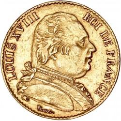 20 francs Louis XVIII 1815 B