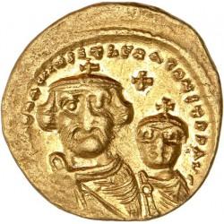 Solidus d'Héraclius et Héraclius Constantin