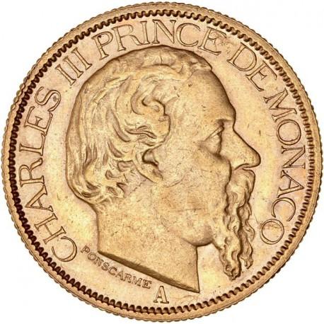 Monaco - 100 francs Charles III 1884