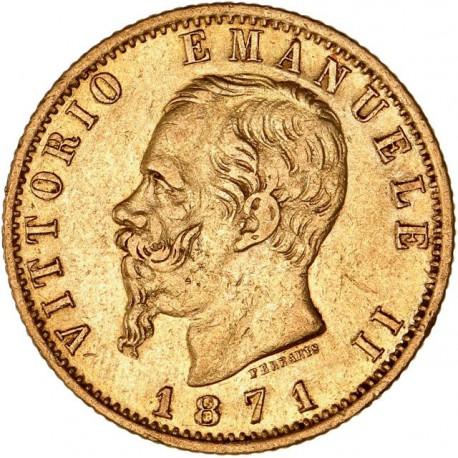 Italie - 20 lires Victor Emmanuel II - 1871 R