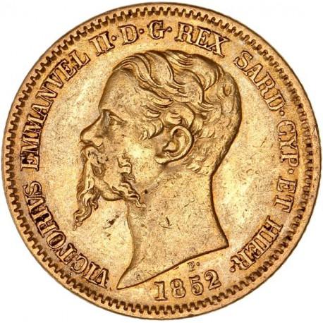 Italie - Sardaigne - 20 lires Victor Emmanuel II 1852 B