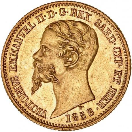 Italie - Sardaigne - 20 lires Victor Emmanuel II 1858 P