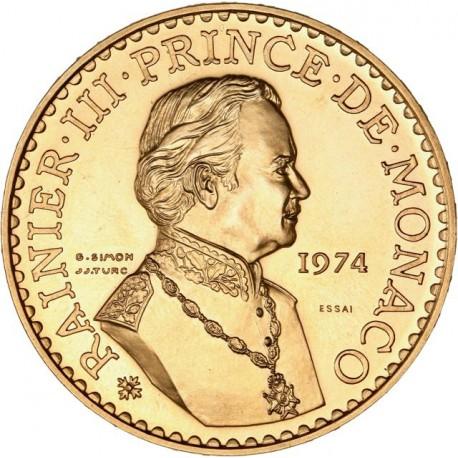 Monaco - Coffret Or ESSAI 1974
