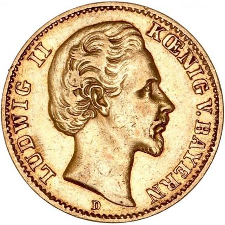 Allemagne - Bavière - 10 mark  Louis II 1872