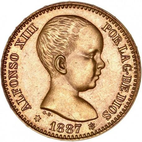 Espagne - 20 pesetas Alfonso XIII 1887 (refrappe 1962)