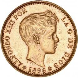 Espagne - 20 pesetas Alfonso XIII 1896 (refrappe 1962)