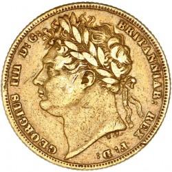 Grande Bretagne - Souverain  Georges IV 1822