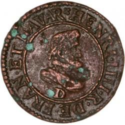 Henri IV - Double Tournois 1607 D