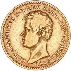 Italie - 10 lires Charles Albert 1839