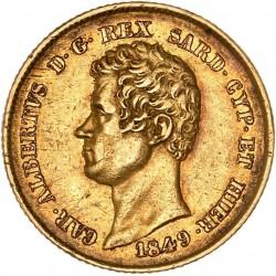 Italie - Sardaigne - 20 lires Charles Albert - 1849 Gênes