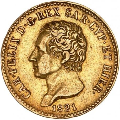 Italie - Sardaigne - 20 lires Charles Felix - 1821 Gênes