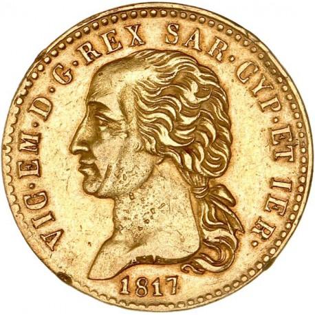 Italie - Sardaigne - 20 lires Victor Emmanuel Ier 1817 Turin