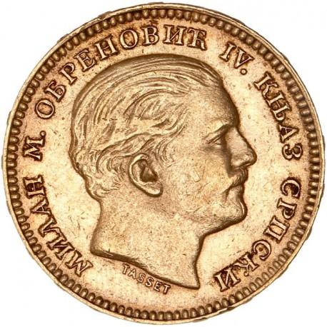 Serbie - 20 dinars 1879