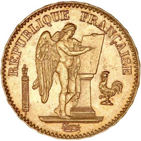 20 francs Génie 1871 A