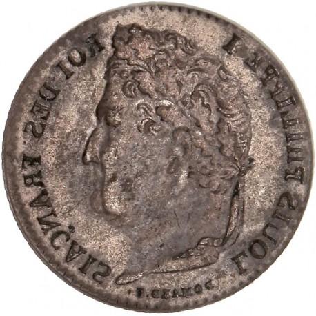 Quart de Franc Louis Philippe Ier incus