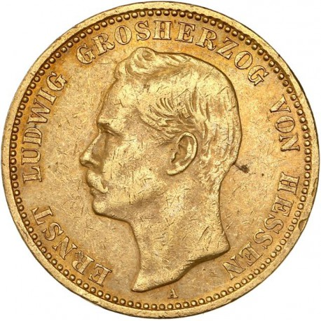 Allemagne - Hesse Darmstadt - 20 mark 1901