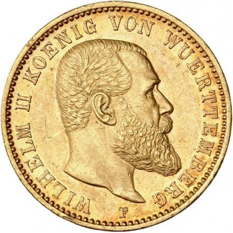 Allemagne - Wurtemberg - 20 mark 1898