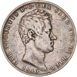 Italie - 5 lires Charles Albert - 1840 Gênes